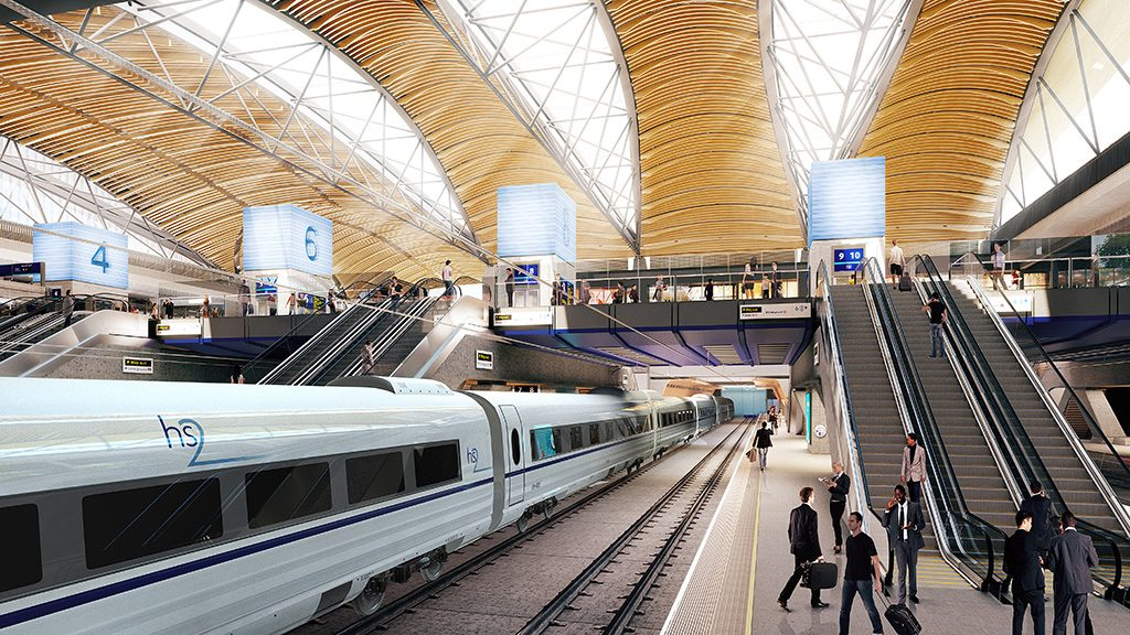 Visuals for the proposed HS2 Euston Station.