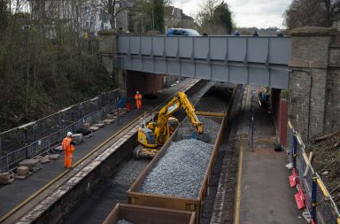 Track lowering between Bath and Bristol 2