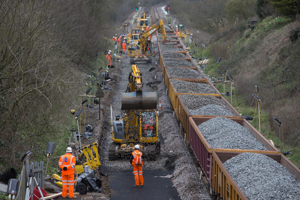 Track lowering between Bath and Bristol
