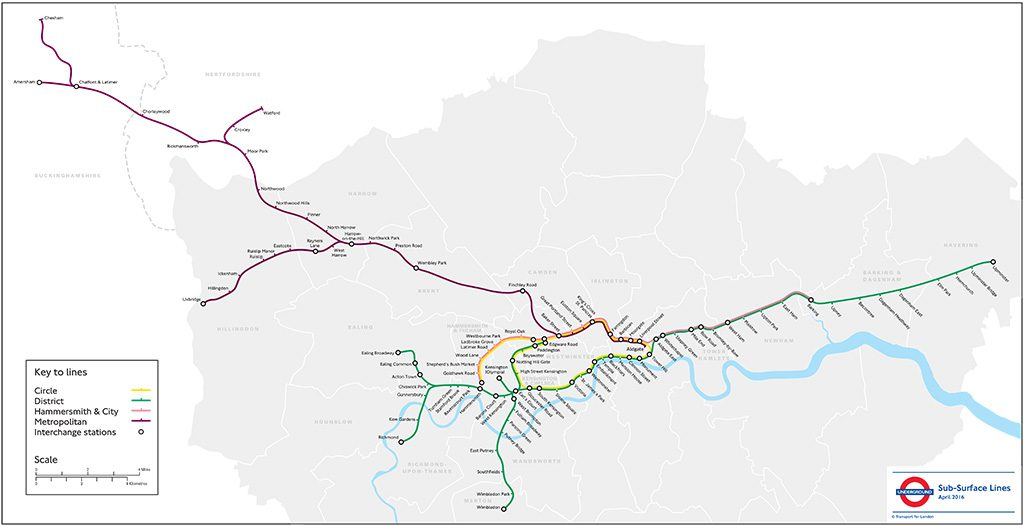 Four Lines Modernisation map