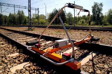 GRAW track geometry and rail profile measurement device. Credit: Goldschmidt.