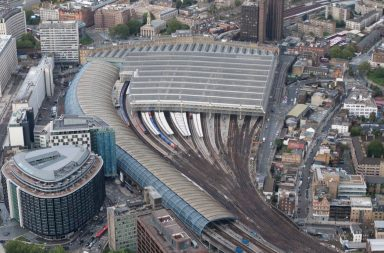 Waterloo Station from above. Credit: Network Rail.