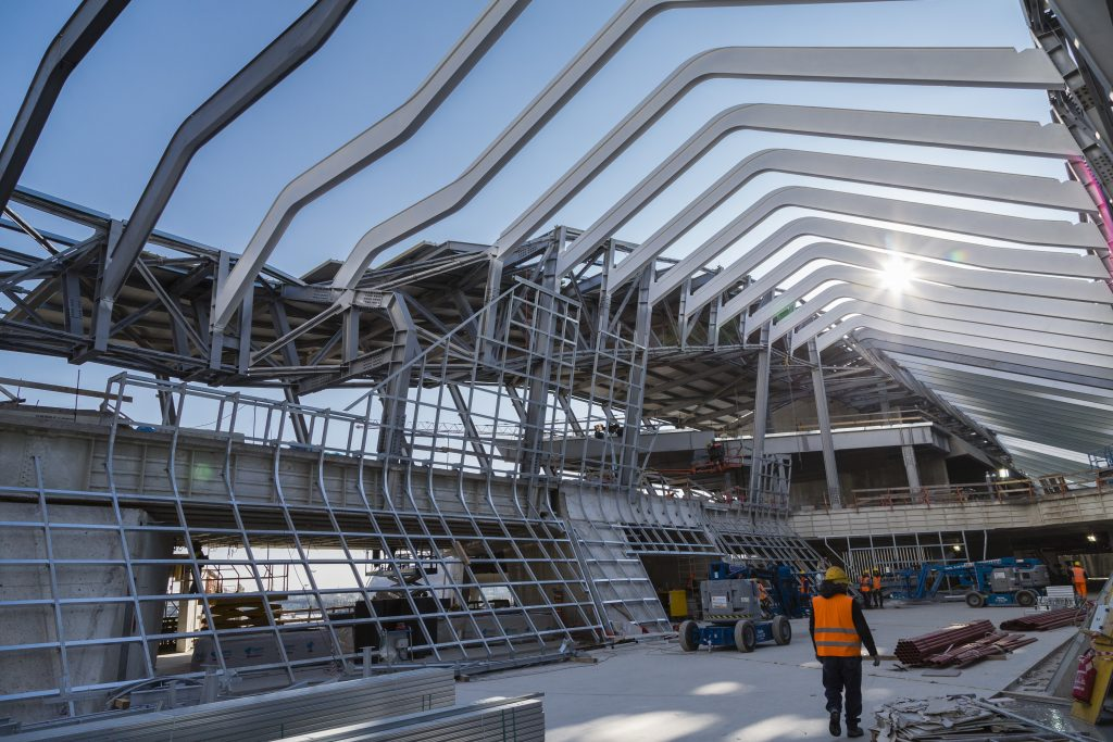 Construction work on Napoli's new station. Credit: Astaldi.
