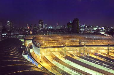 Waterloo station at night. Credit: Daniel Gale/Shutterstock.