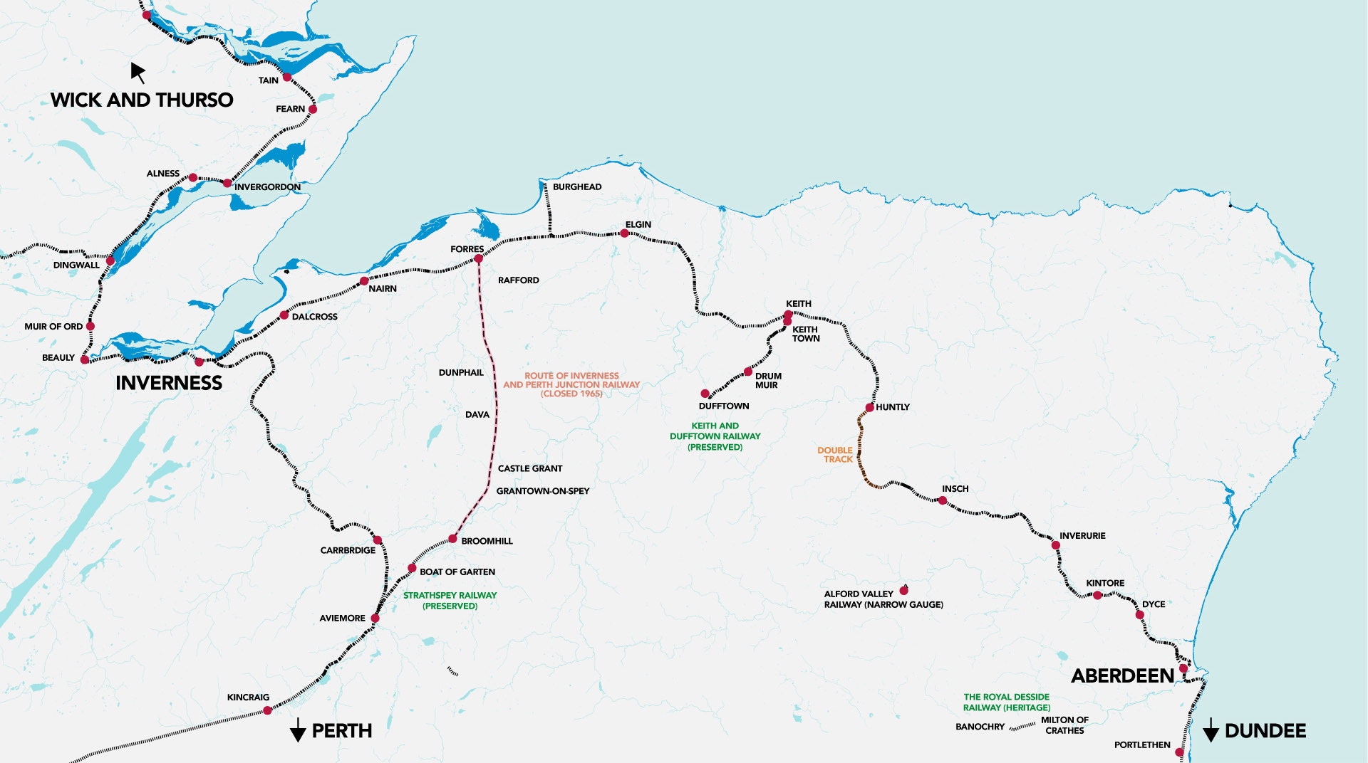 Aberdeen To Inverness Phase One Delivered Rail Engineer - Where is aberdeen