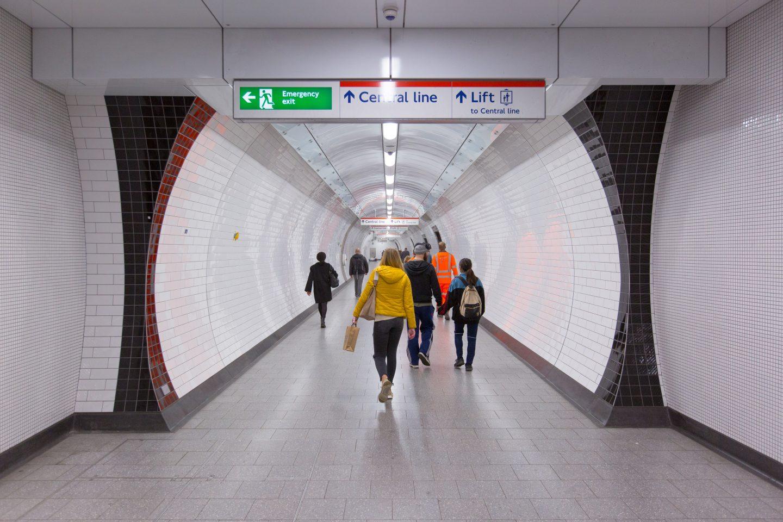 London Underground Keeping The Lights On Rail Engineer Running Electrical Wire Garage Flood Light Wiring
