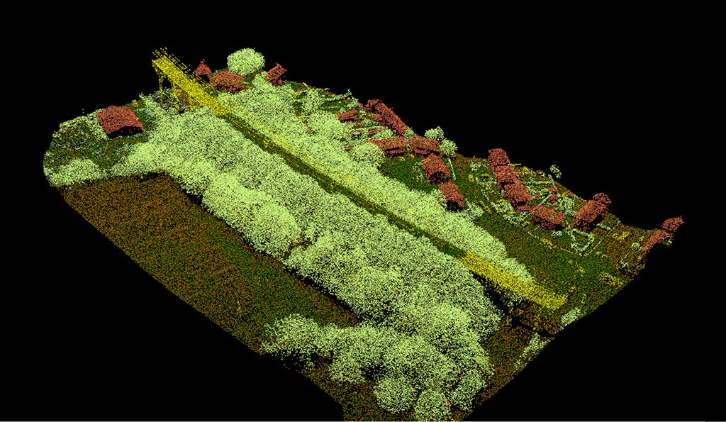 Aerial Survey - LiDAR Classified Point Cloud Image [online]