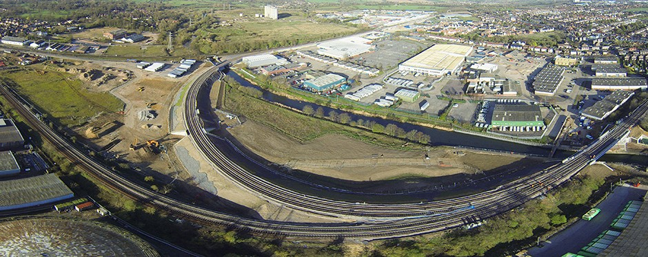 Aerial views of the Ipswich Chord Project